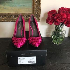 BCBG Maxazria Pink Ruffled Heel
